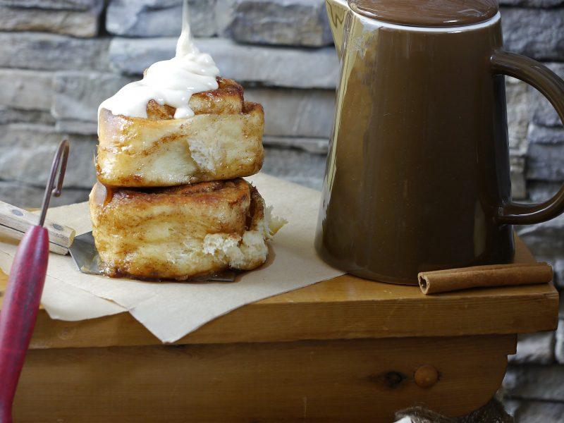 Maple and cream cheese glaze